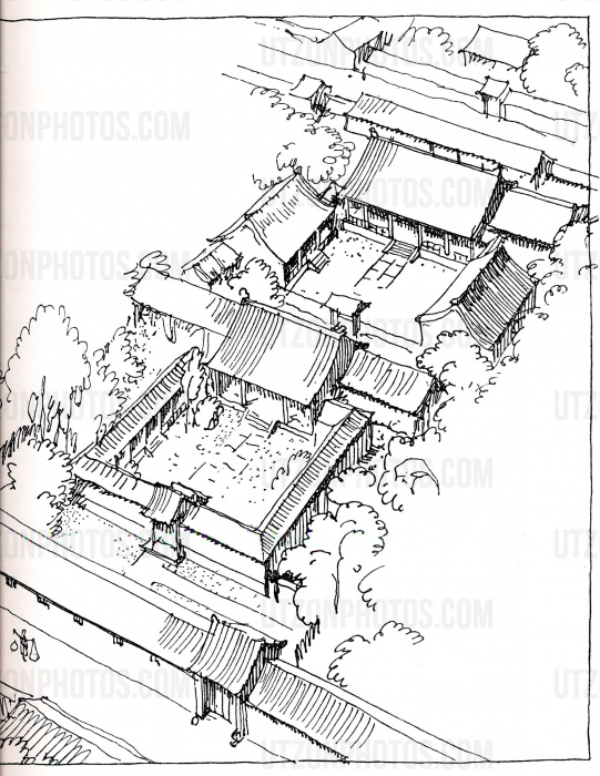 china utzonphotos Qinling Shandi Mountains Map China drawings by j rn utzon
